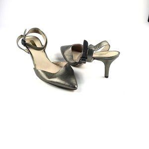 Louise et Cie Women's Golden Pointy Toe Mini Heels